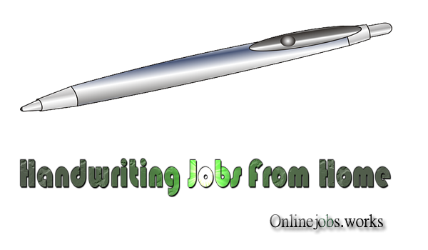 handwriting jobs from home