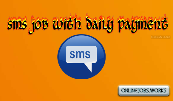 sms job with daily payment
