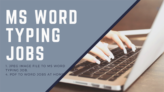 MS Word typing jobs without investment
